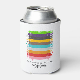 Safe With Me Flag Can Cooler