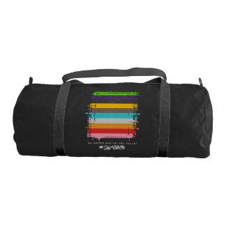 Safe With Me Flag Dark Duffel Bag