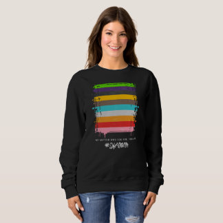 Safe With Me Flag Dark Women's Basic Sweatshirt