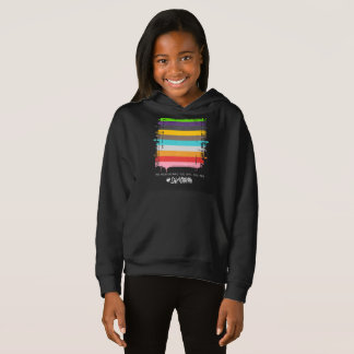 Safe With Me Flag Girl's Dark Hoodie
