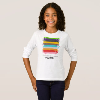 Safe With Me Flag Girl's Long Sleeve T-Shirt