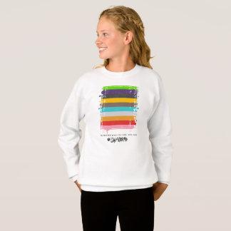 Safe With Me Flag Girl's Sweatshirt