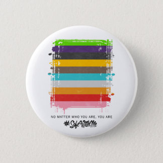 Safe With Me Flag Round Button