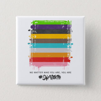 Safe With Me Flag Square Button