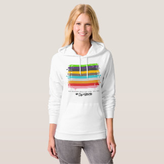 Safe With Me Flag Women's Fleece Pullover Hoodie