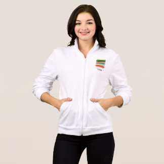 Safe With Me Flag Women's Fleece Zip Jog Jacket