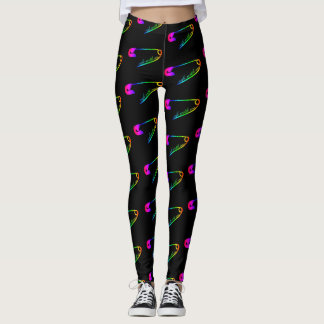 Safe with me rainbow safety pin leggings