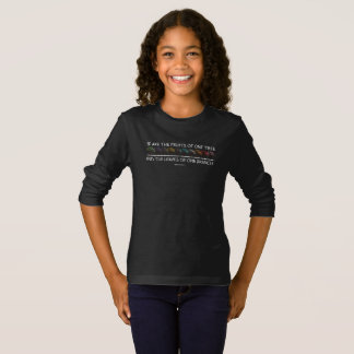 Safe With Me Tree Girl's Dark Long Sleeve T-Shirt