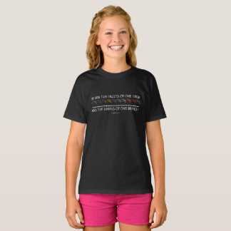 Safe With Me Tree Girl's Dark T-Shirt