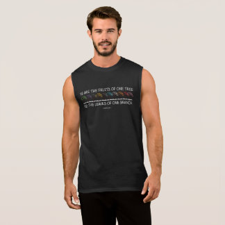 Safe With Me Tree Men's Dark Muscle Tank