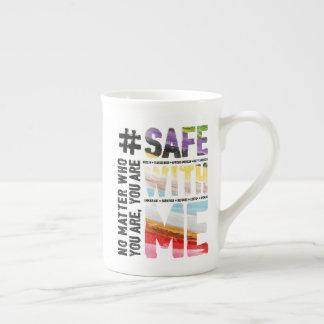 Safe With Me Watercolor Bone China Mug