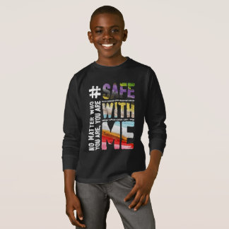 Safe With Me Watercolor Boy's Dark Long Sleeve Tee