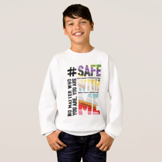 Safe With Me Watercolor Boy's Sweatshirt