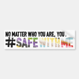 Safe With Me Watercolor Bumper Sticker