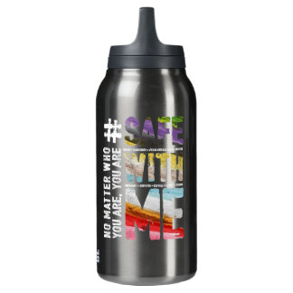 Safe With Me Watercolor Dark Hot & Cold Bottle