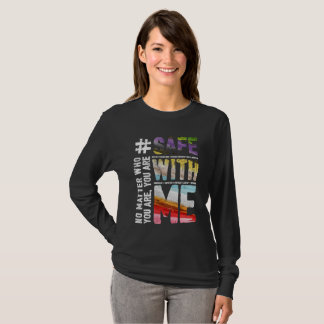 Safe With Me Watercolor Dark Long Sleeve Tee