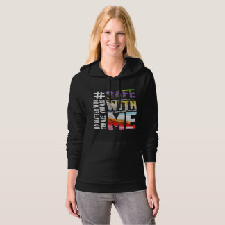 Safe With Me Watercolor Dark Women's Fleece Hoodie