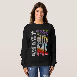 Safe With Me Watercolor Dark Women's Sweatshirt