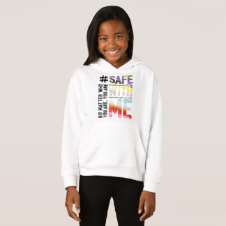 Safe With Me Watercolor Girl's Hoodie