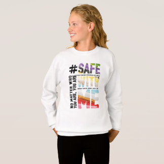 Safe With Me Watercolor Girl's Sweatshirt
