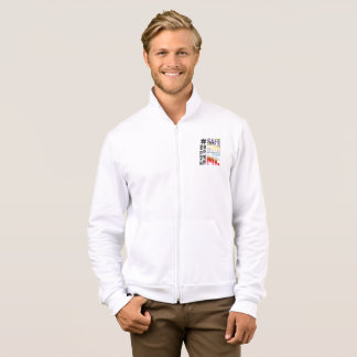 Safe With Me Watercolor Men's Fleece Zip Jacket