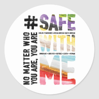 Safe With Me Watercolor Sticker