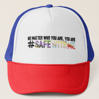 Safe With Me Watercolor Trucker Hat