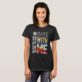 Safe With Me Watercolor Women's Basic Dark T-Shirt