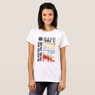 Safe With Me Watercolor Women's Basic T-Shirt