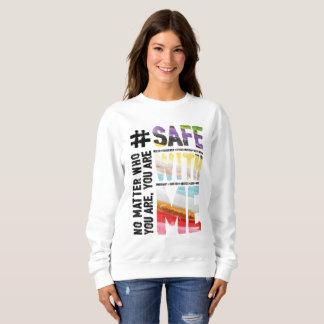 Safe With Me Watercolor Women's Basic Sweatshirt