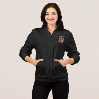 Safe With Me Watercolor Women's Dark Fleece Jacket