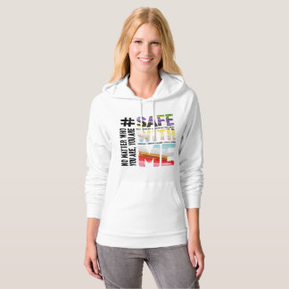 Safe With Me Watercolor Women's Fleece Hoodie