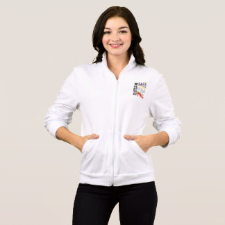 Safe With Me Watercolor Women's Fleece Jog Jacket