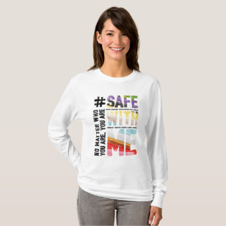 Safe With Me Watercolor Women's Long Sleeve Tee