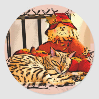 SAFELY GUARDED CLASSIC ROUND STICKER