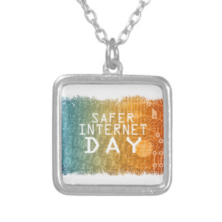 Safer Internet Day - Appreciation Day Silver Plated Necklace