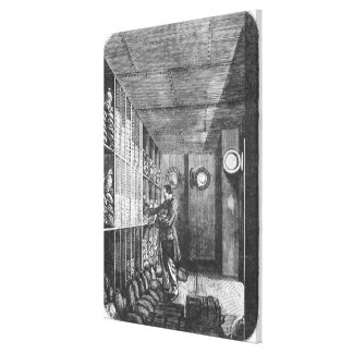 Safes at the Bank of France in Paris, 1897 Stretched Canvas Print