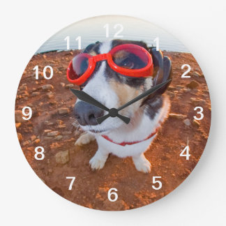 Safety Dog Large Clock