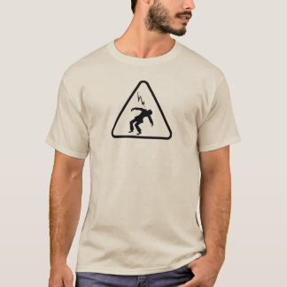 Safety Electrical Hazard Warning Sign - Lightning T-Shirt