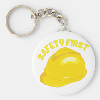 Safety First Basic Round Button Keychain