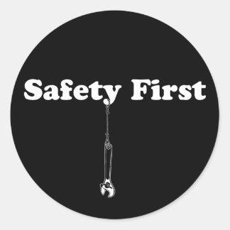 Safety First Classic Round Sticker