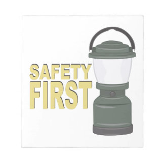 Safety First Notepad