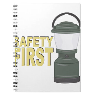 Safety First Spiral Note Book