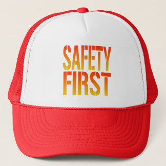 Safety First Trucker Hat