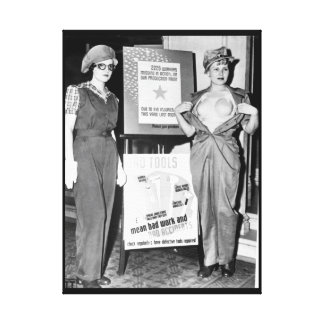 Safety garb for women workers_War image Canvas Print