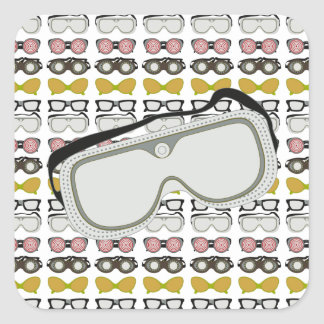 Safety Goggles Square Sticker