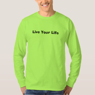 Safety Green Mens T-Shirt Live Your Life