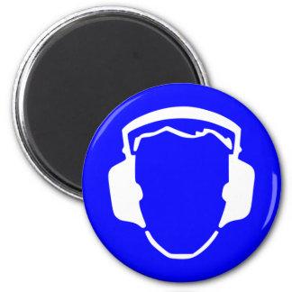 Safety headset 2 inch round magnet