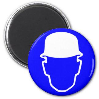 Safety helmet 2 inch round magnet