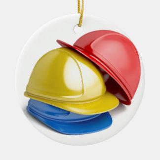 Safety helmets ceramic ornament